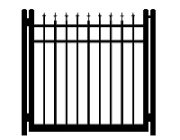 3 point single gate