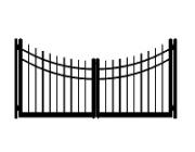 drive cap concave double gate
