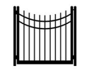 drive cap concave single gate