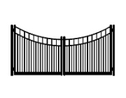 f dog run standard concave double gate