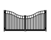f dog run standard double roll concave double gate