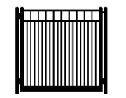 f dog run standard single gate